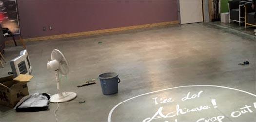 店舗内装への施工のイメージ⑤ - 施工前